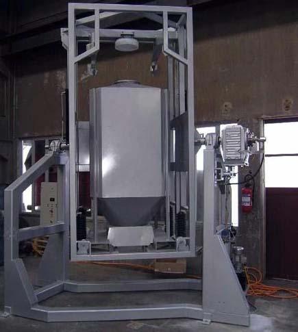 powder mixing and blending inside IBC using IBC tumble blender