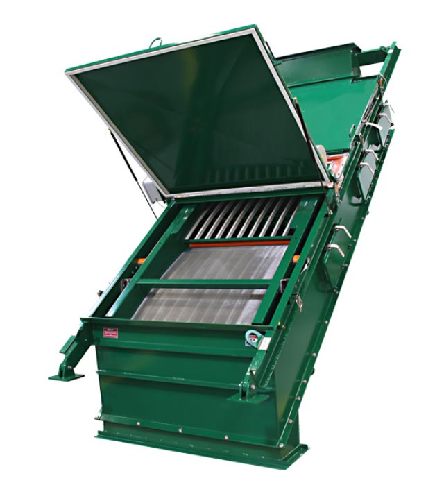 single front to back dry screening machine
