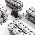 stacking and moving IBCs using a forklift