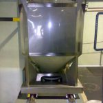 stainless steel IBC used for storage of dry ingredients
