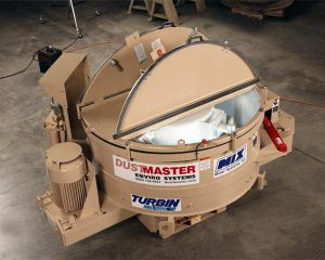turbin dust and powder mixers for waste dust disposal