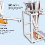 volumetric feeders or tray feeders