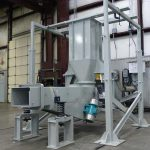 Large Rectangular Vibrating Tube Feeder with Powder Coated Support Frame