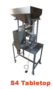 bagging equipment for beans used to fill small pouches and bags