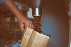 bagging coffee beans for resale