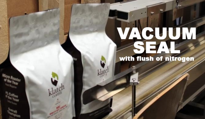 coffee bag sealers used for packaging roasted coffee