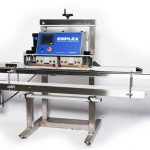 emplex mps 7500 band sealer with conveyor for bags and pouches