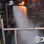 Dry Fog™ dust suppression for rail car dump station