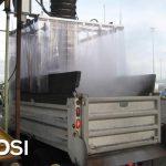 Dry Fog™ dust suppression system for dump truck loading station