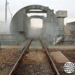 Dry Fog™ dust suppression system for rail car loading station