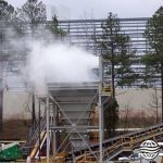 Dry Fog™ dust suppression system used on a hopper