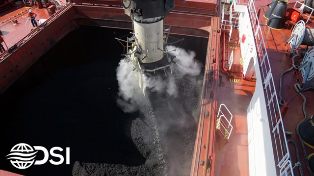 dry fog dust suppression used for loading ships