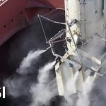 dust suppression and control for ship loading system