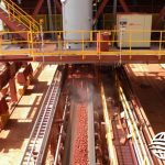 dust suppression for conveyor transfer point