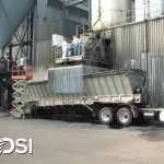 dust suppression for truck loading station