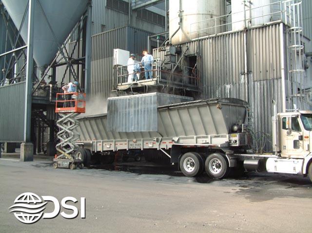 Dry Fog™ dust suppression system on truck loading station