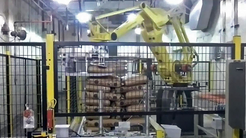 50 pound bag robotic palletizer