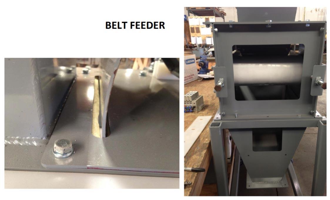 bagging machine wiht belt feeder for sticky animal feeds
