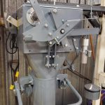 side view of 50 lb bagging machine