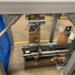bagging system for milling company probox stand mechanical bagger and closing conveyor
