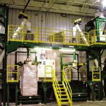 bulk bag filling system for plastic pellets