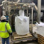 bulk bag filling system for silica sand and aggregates
