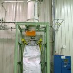 bulk bag filling with air packer and vibratory deck