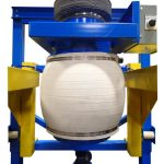 dust controlled bulk bag filling fill head inflated