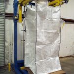 free standing bulk bag filler for tall bags