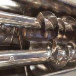 progressive pitch flighting on stainless steel auger