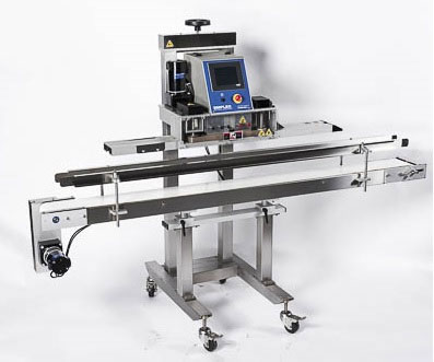 continuous band sealer with conveyor