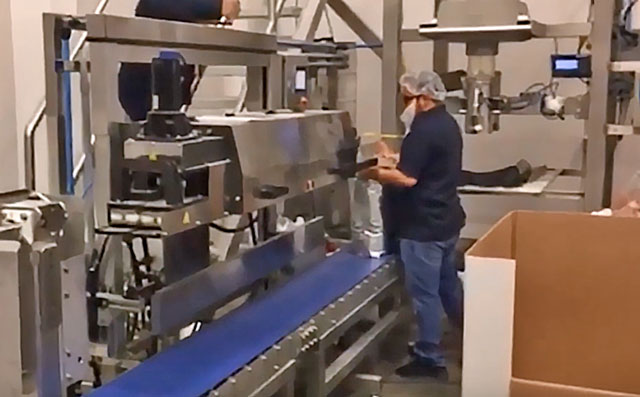 high speed band sealer for bands and pouches mps 14000 conveyor line